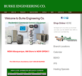 Burke Engineering home page