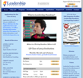 Leadership Pasadena home page