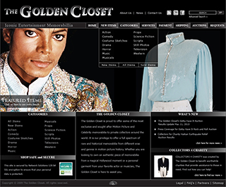 The Golden Closet Web page