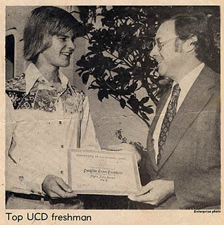 Top Freshman at UCD - Newspaper Article