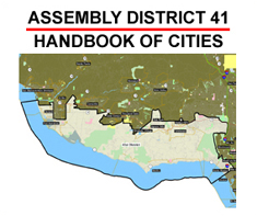 Cover of California Assembly District 41: Handbook of Cities