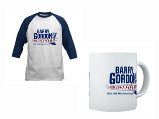 Jersey and Coffee Mug with Barry Gordon from Left Field logo