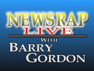 "Logo of ""NewsRap with Barry Gordon"""