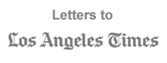 "Letters to ""Los Angeles Times"" logo"